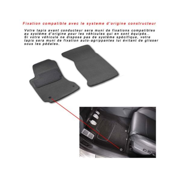 tapis auto renault clio 3 depuis 15 09 2005. Black Bedroom Furniture Sets. Home Design Ideas